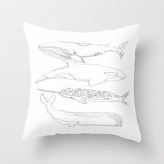 whale, i love you Throw Pillow