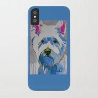 westie iPhone & iPod Cases featuring Westie Pop Art Dog Art Portrait  by Karren Garces Pet Art