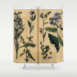 Naturgeschichte des Pflanzenreichs, Eßlingen 1870 - Tafel 009 Shower Curtain