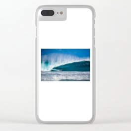Surfing Pipe Clear iPhone Case