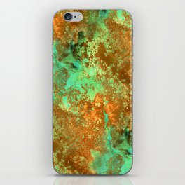 Rust patina abstract painting iPhone Skin