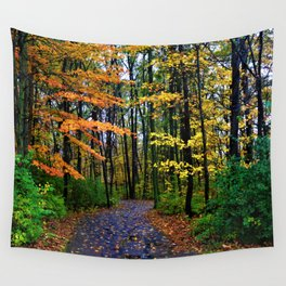 When it rains in the woods Wall Tapestry