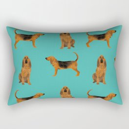Bloodhound dog breed pet pattern hounds dog portrait bloodhounds gifts Rectangular Pillow
