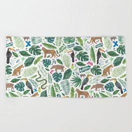 Jungle/Tropical Pattern Beach Towel
