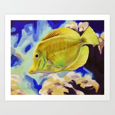Yellow Tang Art Print