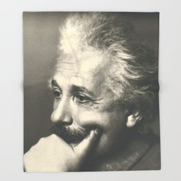 Albert Einstein rare photo Throw Blanket