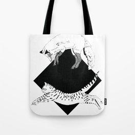 Beastly jump - Ink artwork Tote Bag