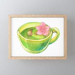 Hanami Green tea time Framed Mini Art Print