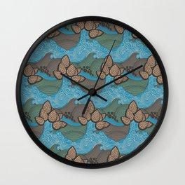 Pine cones pattern Wall Clock