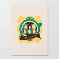 friends tv Canvas Prints featuring Friends Crest Design | TV by I'm Emma R