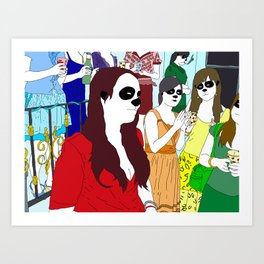 Formal Ladies Art Print