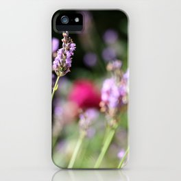 Lavender and rose iPhone Case