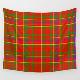 Tartan Vibrant Red Green and Blue Wall Tapestry
