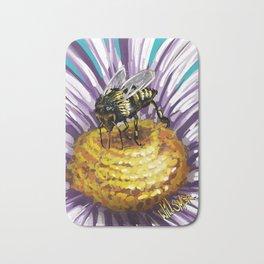 Wasp on flower 3 Bath Mat