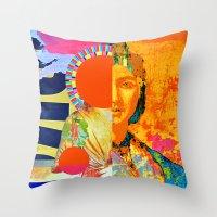 half life Throw Pillows featuring half-life by Robert Alan