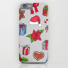 Christmas pattern (#1 grey) Slim Case iPhone 6s