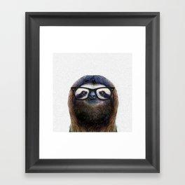 Hipster Sloth Framed Art Print
