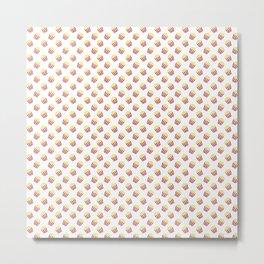 Popcorn Pattern Metal Print