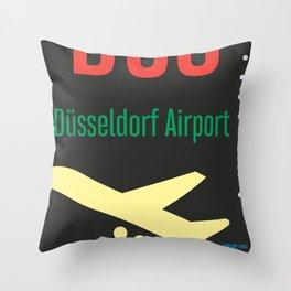 DUS Dusseldorf airport Throw Pillow