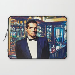 Falco at the Cafe Laptop Sleeve