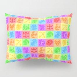 Zodiac Zentangle - All signs (Rainbow Ver.) Pillow Sham