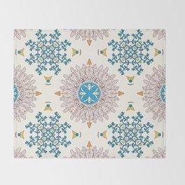 Sunny day Mandala Throw Blanket