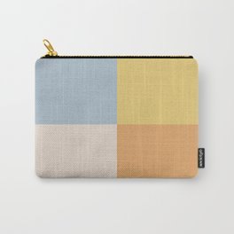Geometric Color Block V Carry-All Pouch