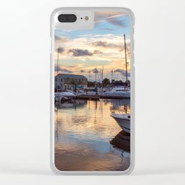 Portsmouth Marina at Sunset Clear iPhone Case