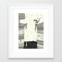 broken Framed Art Prints featuring 'Broken Bridge' by Alex G Griffiths