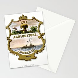 Vintage Tennessee State Coat of Arms Stationery Cards