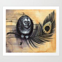Owl Monkey Art Print
