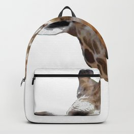 A Cute Animal Tee For Giraffe Lovers With A Nice Illustration Of A Giraffe T-shirt Design Grass Tall Backpack