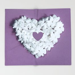 Purple You are in my heart Throw Blanket