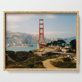 Golden Gate Bridge shot on film Serving Tray