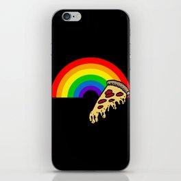 pizza rainbow iPhone Skin