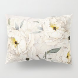 White Peonies Pillow Sham