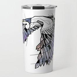 Heron Geometric Bird Travel Mug