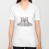 feet V-neck T-shirts featuring Feet Study by Heidi Banford