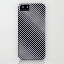 Lilac Gray and Black Stripe iPhone Case