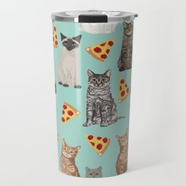 Cats pizza slices food cat lover pet gifts must have cat breeds Travel Mug