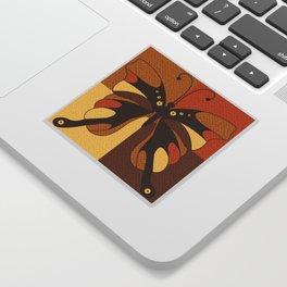 RETRO BUTTERFLY Sticker
