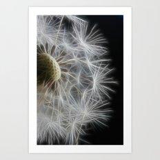 Dandelion Frost Art Print