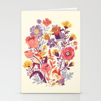 garden Stationery Cards featuring The Garden Crew by Teagan White