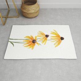 3 yellow gloriosa daisies Rug