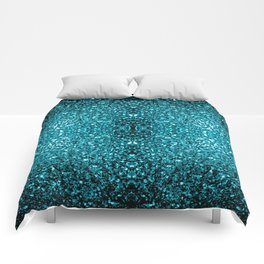 Beautiful Aqua blue glitter sparkles Comforters