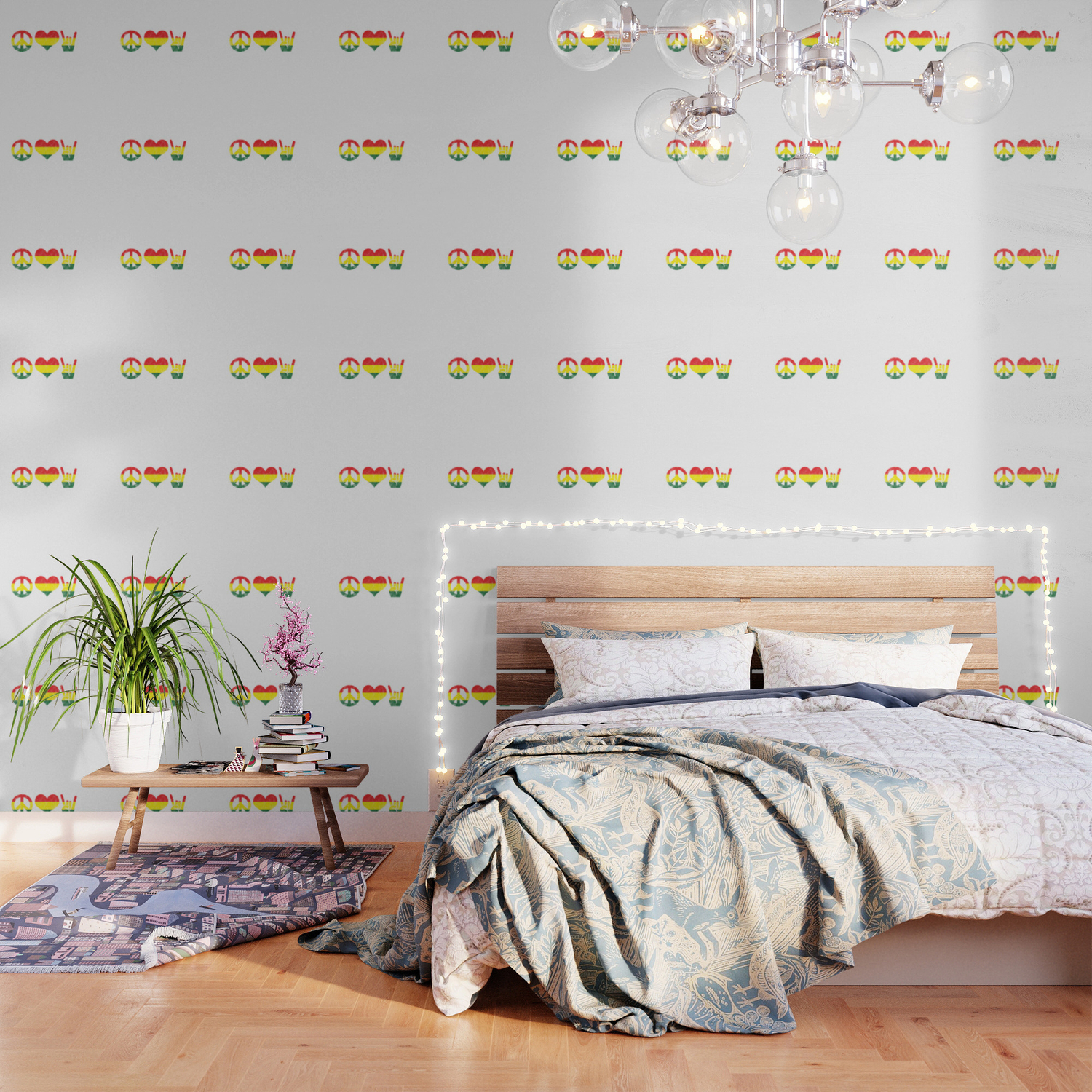 Hippie Peace Love Rock And Roll Musician Wallpaper By Tomgiant