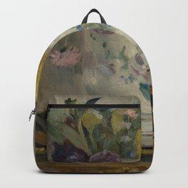 Berthe Morisot - Dahlias (1876) Backpack
