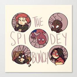 The Spidey Bunch Canvas Print