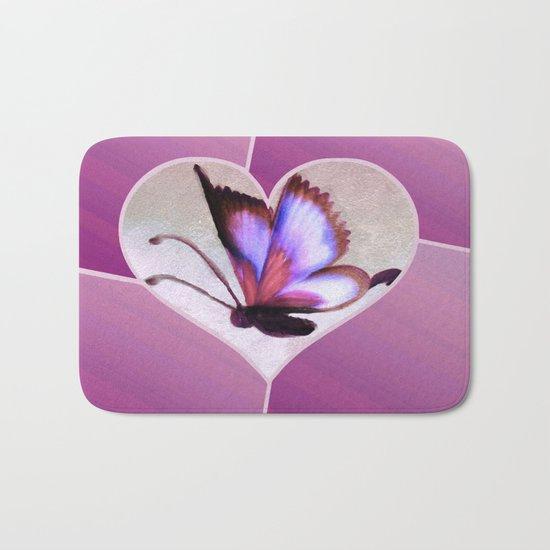 Butterfly Love - Lavender Bath Mat