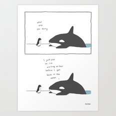 Swimming After You Eat Art Print